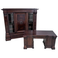 Office Set or Library and Desk from circa 1900