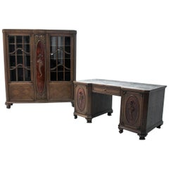 Office Set or Library and Desk from circa 1920