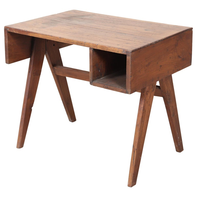 Office Solid Desk by Pierre Jeanneret For Sale