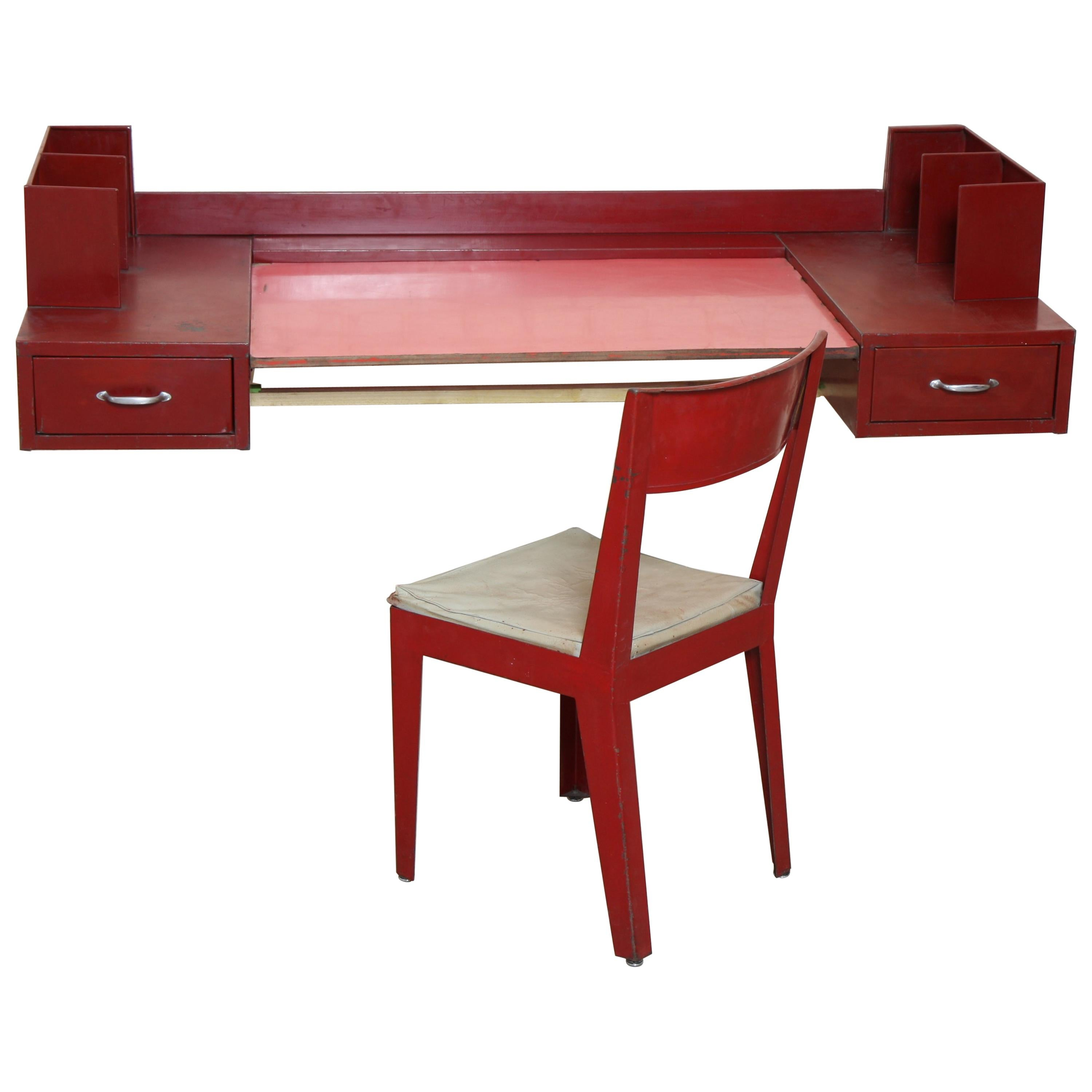 Office Table by Jean Prouvé and Jules Leleu
