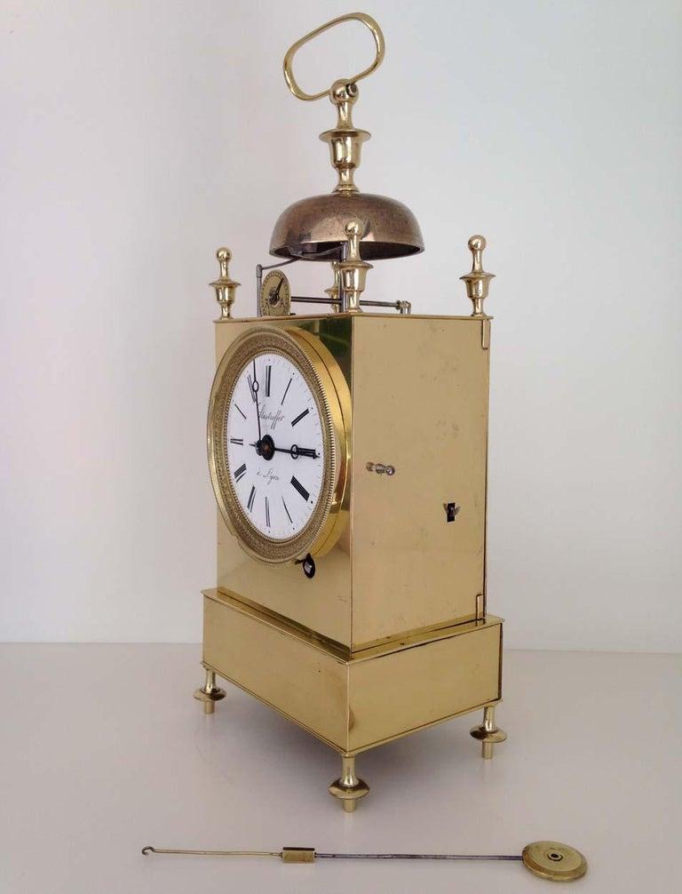 French Capucine Clock Circa 1820 Hastroffer a Lyon In Good Condition For Sale In Melbourne, Victoria