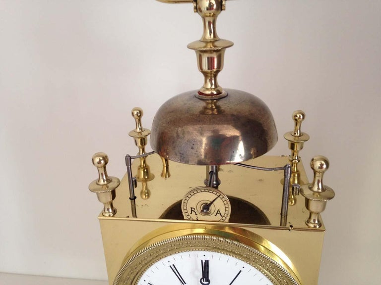 Early 19th Century French Capucine Clock Circa 1820 Hastroffer a Lyon For Sale