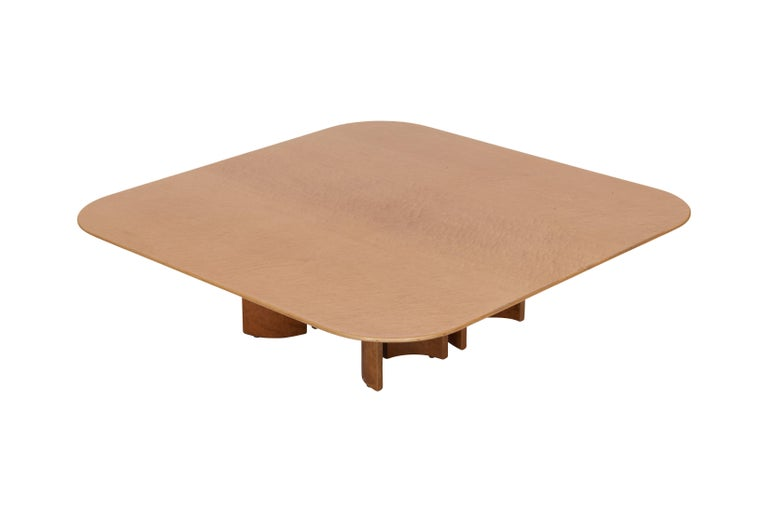 Post-Modern Offredi Burl Coffee Table for Saporiti For Sale