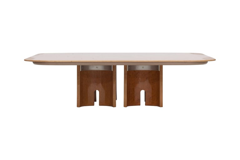 Offredi Burl Coffee Table for Saporiti In Good Condition For Sale In Antwerp, BE