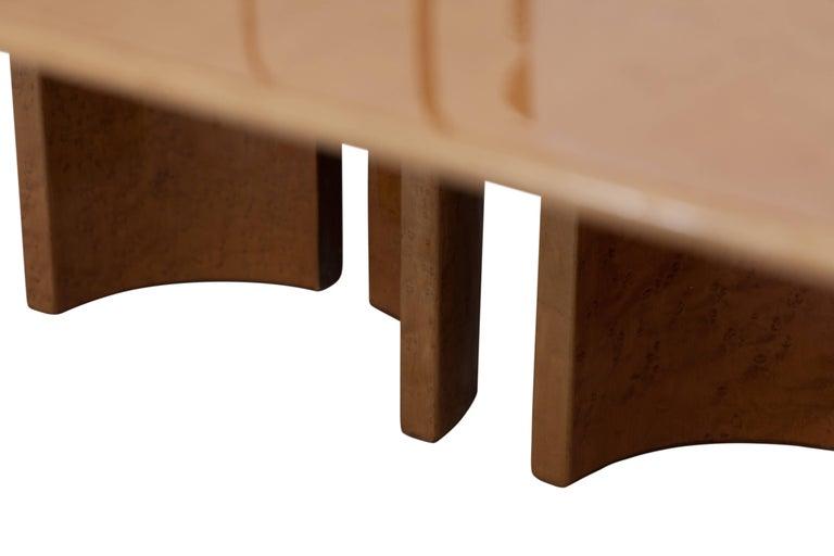 Birdseye Maple Offredi Burl Coffee Table for Saporiti For Sale