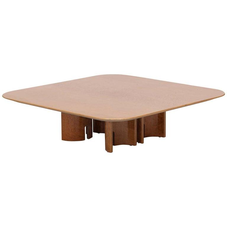 Offredi Burl Coffee Table for Saporiti For Sale