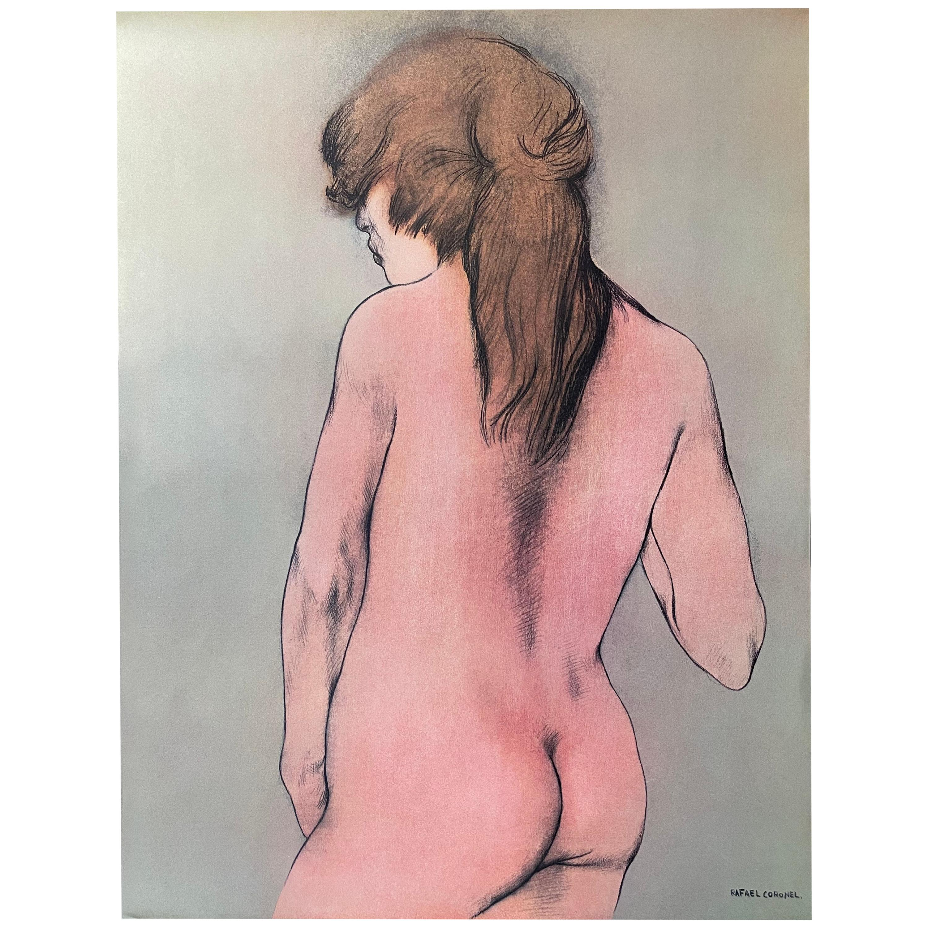 """Offset Lithograph Drawing from """"Portfolio"""" by Rafael Coronel, 1978"""