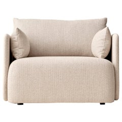 Offset Sofa Chair, 1-Seat, Cream 'Savanna' 0202, Designed by Norm Architects