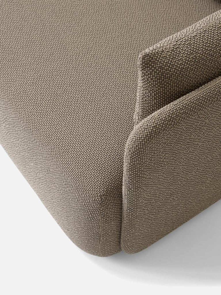 Scandinavian Modern Offset Sofa Chair, 1 Seat, Dark Sand, Designed by Norm Architects For Sale