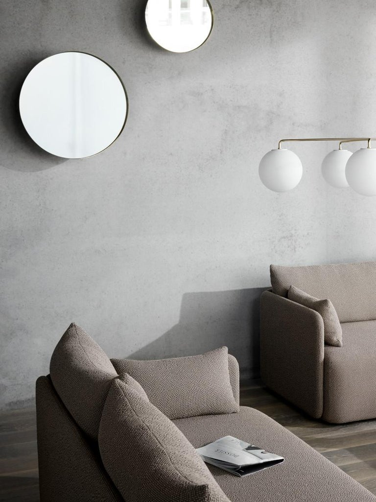 Lithuanian Offset Sofa Chair, 1 Seat, Dark Sand, Designed by Norm Architects For Sale