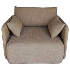 Offset Sofa Chair, 1 Seat, Dark Sand, Designed by Norm Architects
