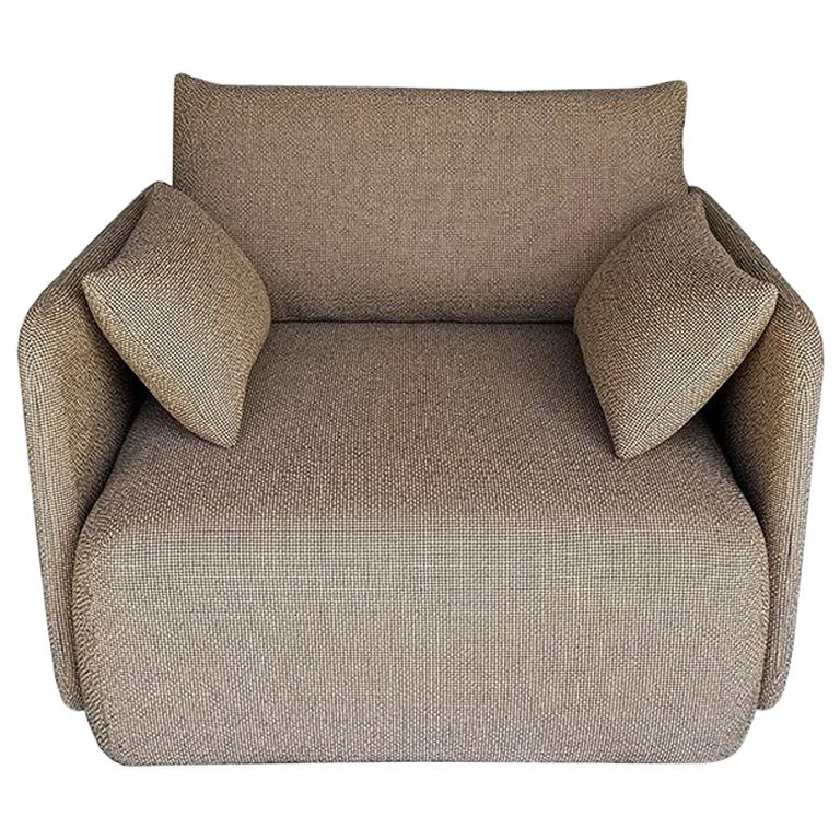 Offset Sofa Chair, 1 Seat, Dark Sand, Designed by Norm Architects For Sale