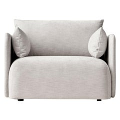 """Offset Sofa Chair, 1-Seat, Light Grey """"Maple"""", Designed by Norm Architects"""