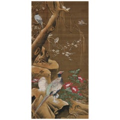 19th century copy of Lu Ji by Ogata Tomin, Japanese Bird and Flower Painting
