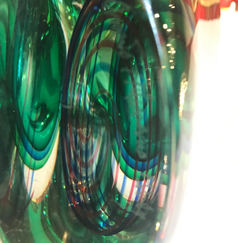 Oggetti Art Glass Vase by L. Onesto For Sale 3