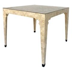 Oggetti Italian Modern Tessellated Stone Game Table