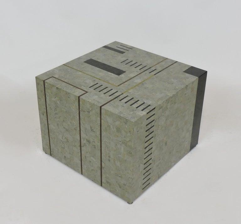 Late 20th Century Oggetti Modernist Tessellated Stone
