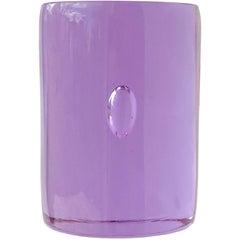 Oggetti Murano Signed Purple Alexandrite Italian Art Glass Sculpture Paperweight
