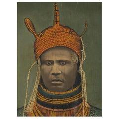 Ogho of Ozoro, Portait of Uku Akolopolo Akenzua II-Oba of Benin