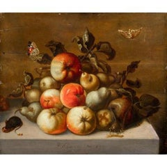 Study of Apples, Pears, Caterpillar, Butterflies and Mice - by Johannes BOUMAN
