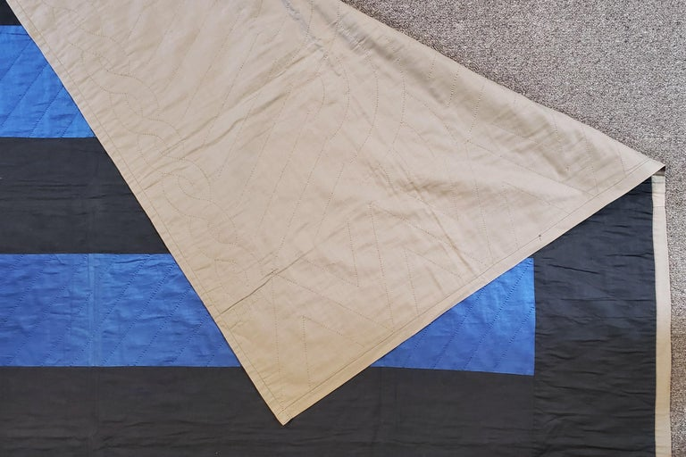 American Ohio Amish Bars Quilt  -Dated 1947 For Sale
