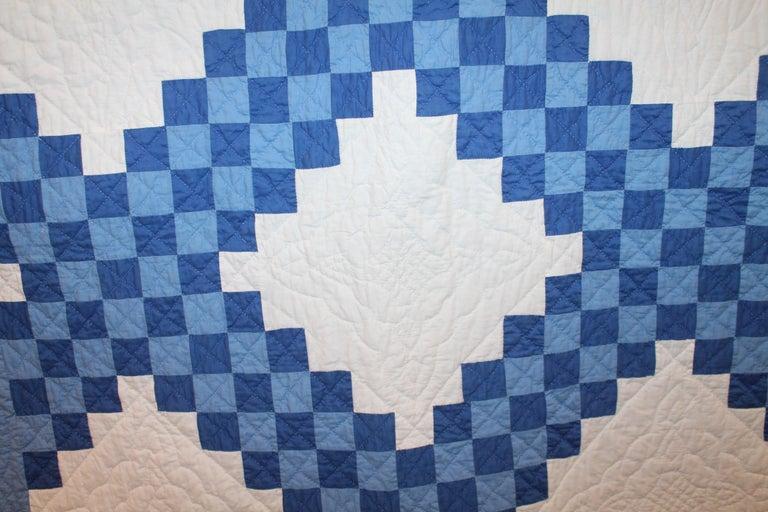 Adirondack Ohio Amish Triple Irish Chain Quilt For Sale