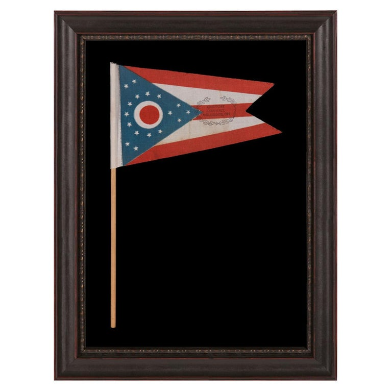 Ohio State Parade Flag with a Civil War Veterans Overprint For Sale