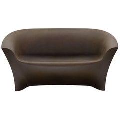 Ohla Sofa in Golden Rust Polyethylene by Alberto Brogliato for Plust