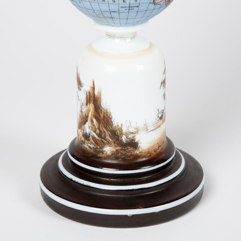 Oil Lamp with an Illuminating Globe Shade, circa 1885 For Sale 4