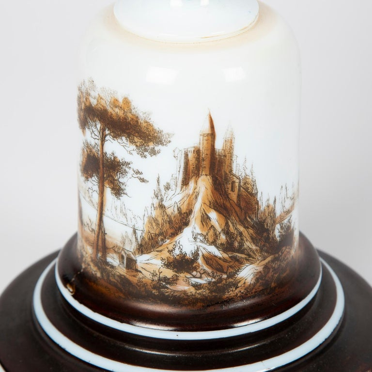 Oil Lamp with an Illuminating Globe Shade, circa 1885 For Sale 5