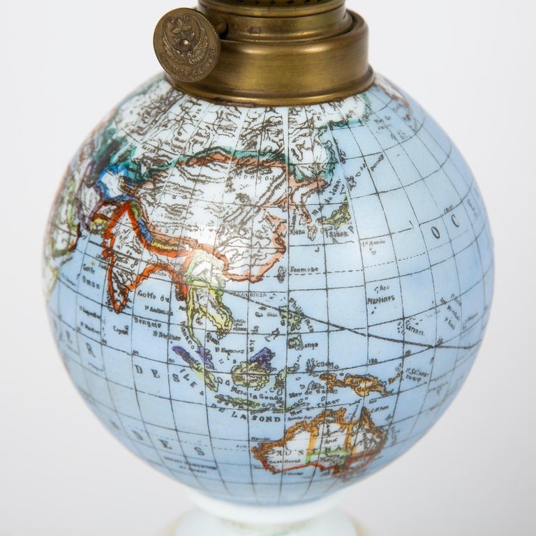 Oil Lamp with an Illuminating Globe Shade, circa 1885 In Good Condition For Sale In London, GB