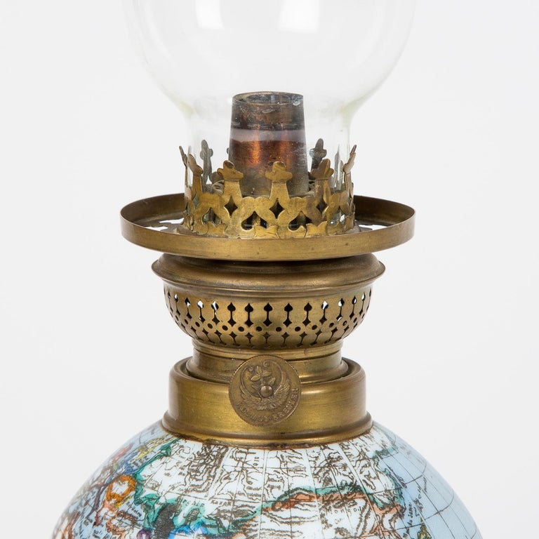 Oil Lamp with an Illuminating Globe Shade, circa 1885 For Sale 1
