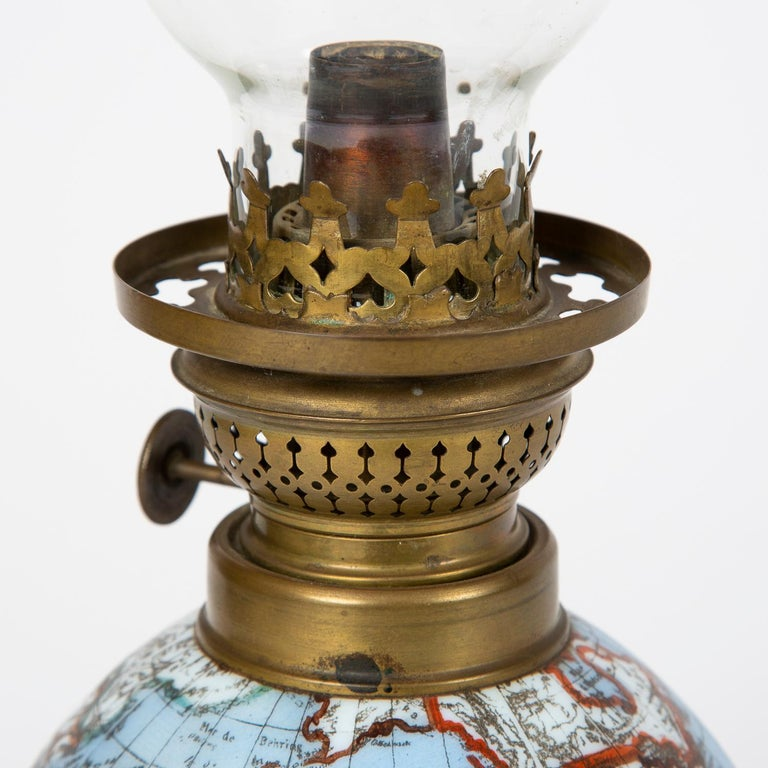 Oil Lamp with an Illuminating Globe Shade, circa 1885 For Sale 2