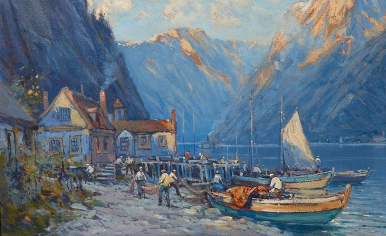 Striking oil on board by Arthur Vidal Diehl (1870-1929) well listed American artist.