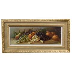 Oil on Board Framed Still Life of Fruit