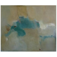 Oil on Board; Large Abstract Painting Entitled 'Destiny' by Sally Chiu