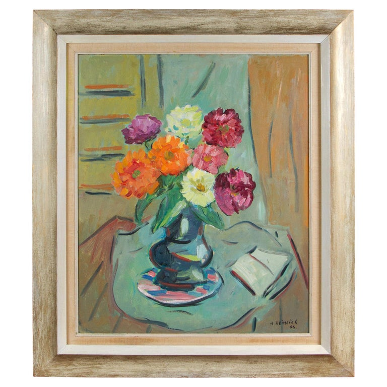 Oil on Board Painting by Herman Heimlich For Sale
