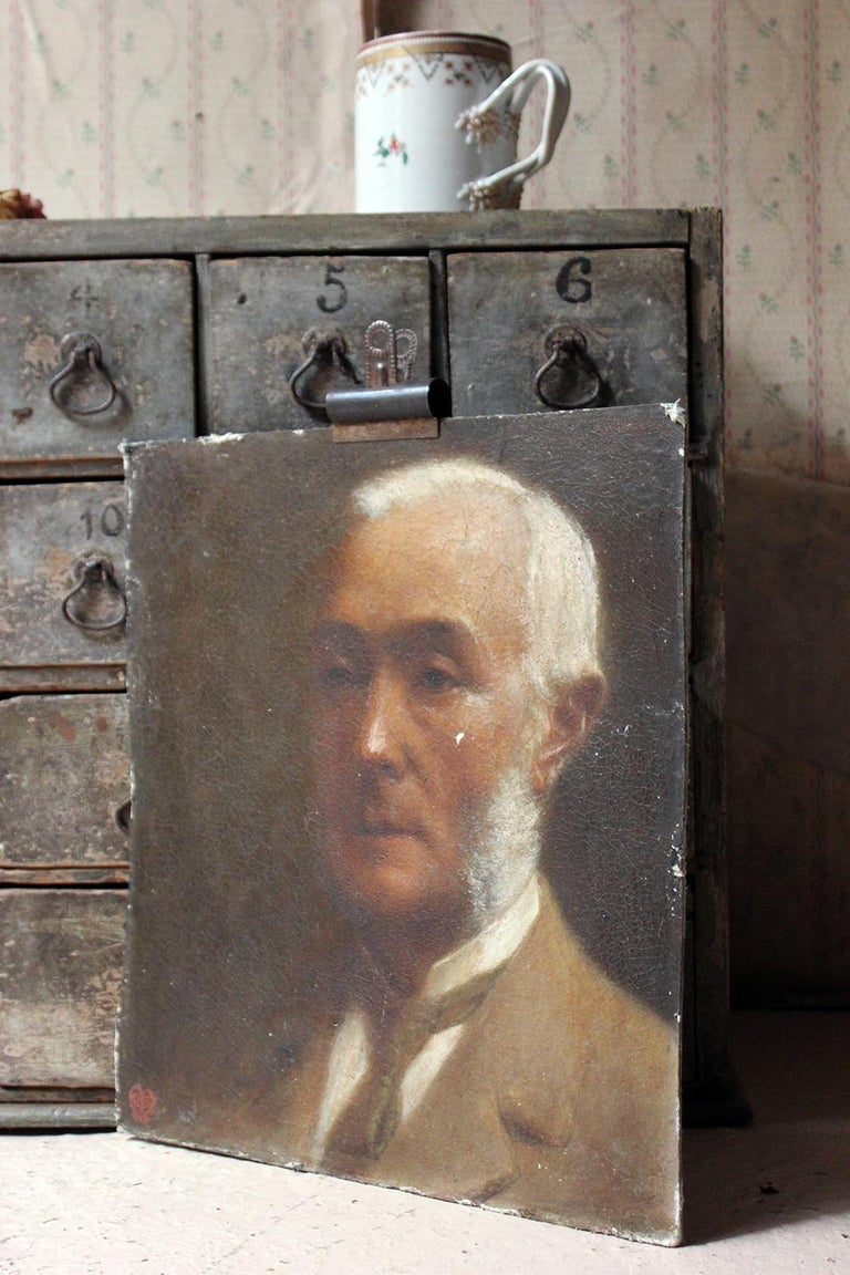 Oil on Board Portrait of Augustus William Dubourg, by R.S. Moseley RA For Sale 10