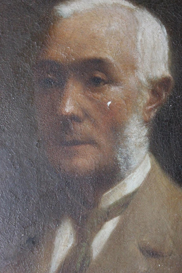 English Oil on Board Portrait of Augustus William Dubourg, by R.S. Moseley RA For Sale