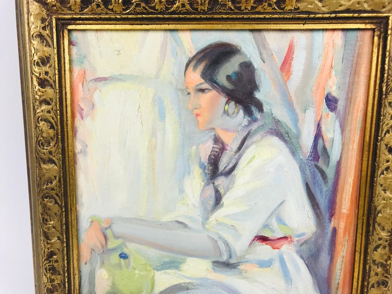 Early 20th Century Oil on Board Winold Reiss