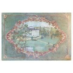 Oil on Canvas 20th Century of the Chateau de la Marche en Nievre