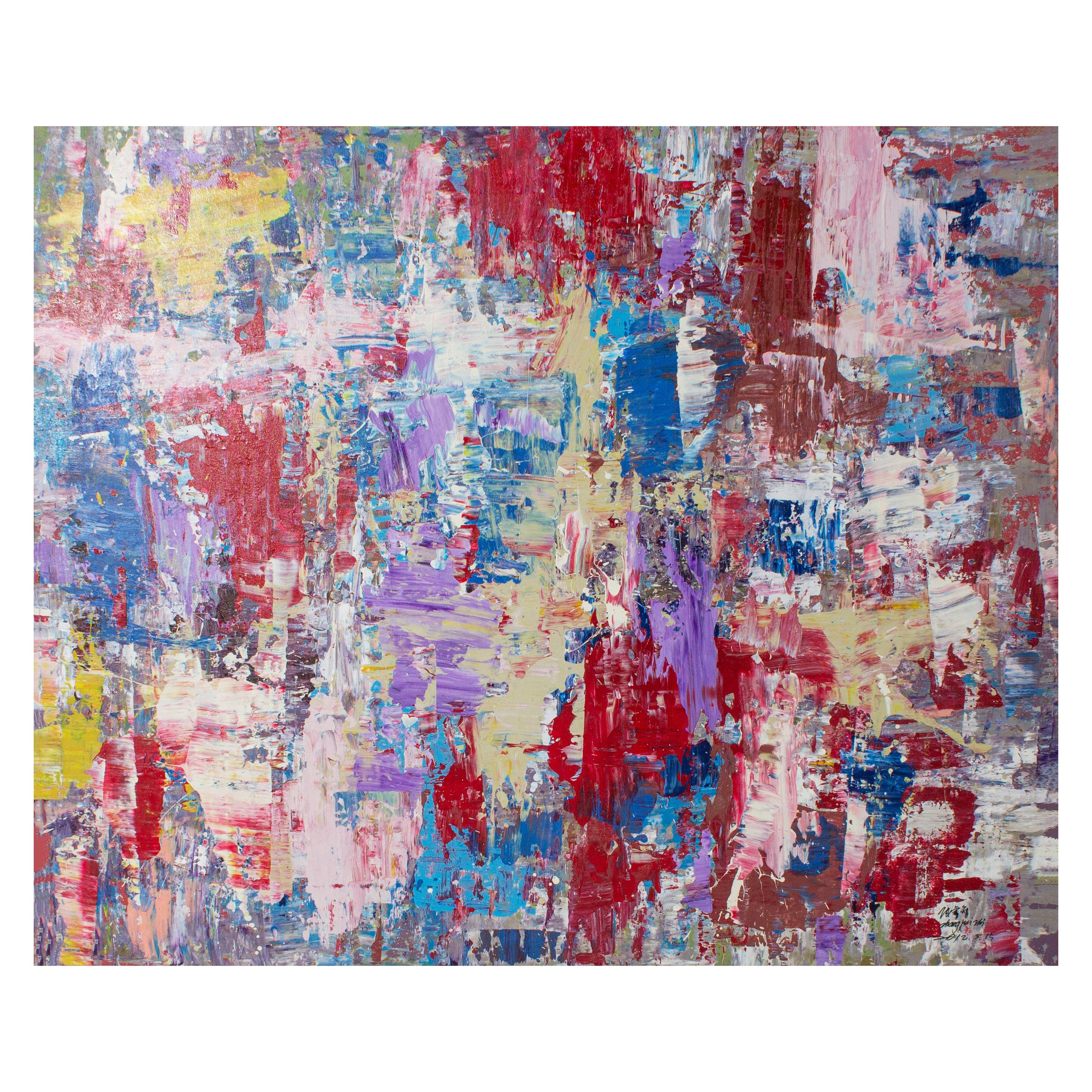 Oil on Canvas Abstract Impressionist
