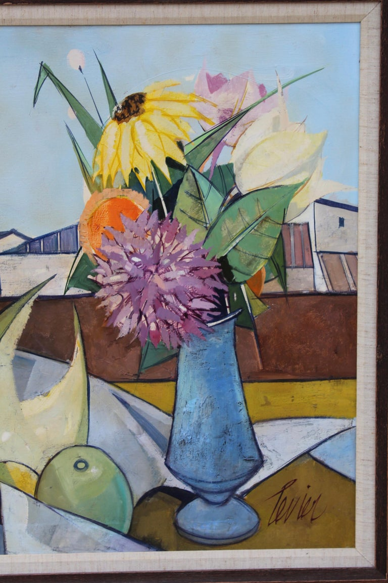 Oil on Canvas Artwork by French Artist Charles Levier For Sale 1