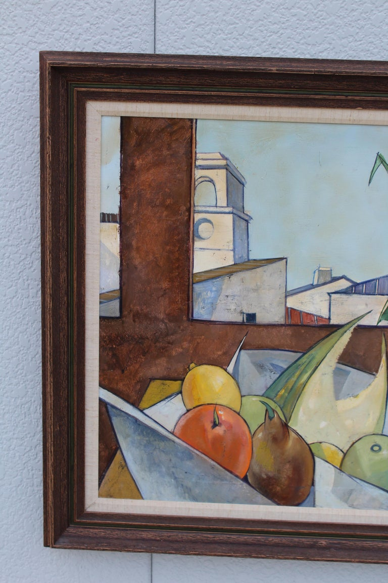 Oil on Canvas Artwork by French Artist Charles Levier For Sale 2