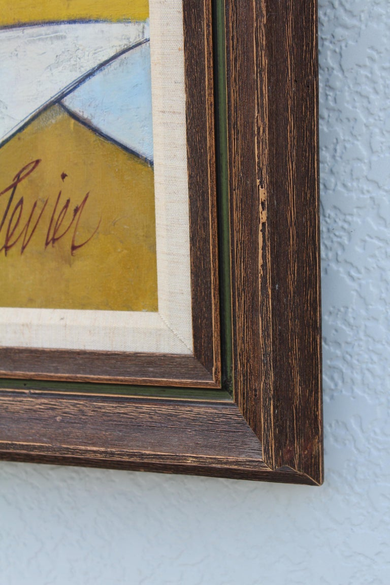 Oil on Canvas Artwork by French Artist Charles Levier For Sale 3