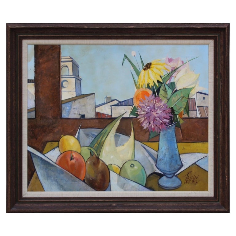 Oil on Canvas Artwork by French Artist Charles Levier For Sale