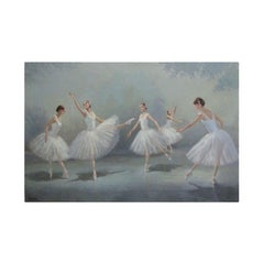 Oil on Canvas Ballerina Painting
