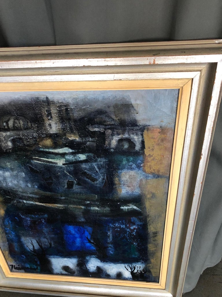 Oil on Canvas by James Coignard In Good Condition For Sale In Long Island City, NY