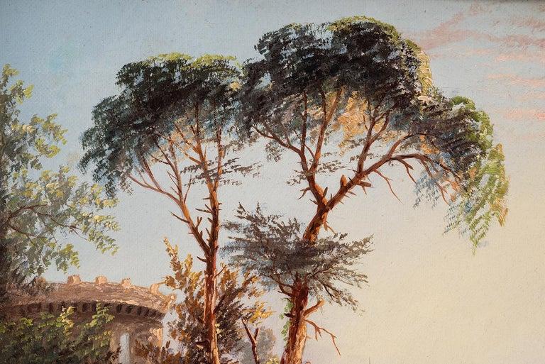 Grand Tour Oil on Canvas by James Salt of 'Venetian Capriccio' 1883 For Sale