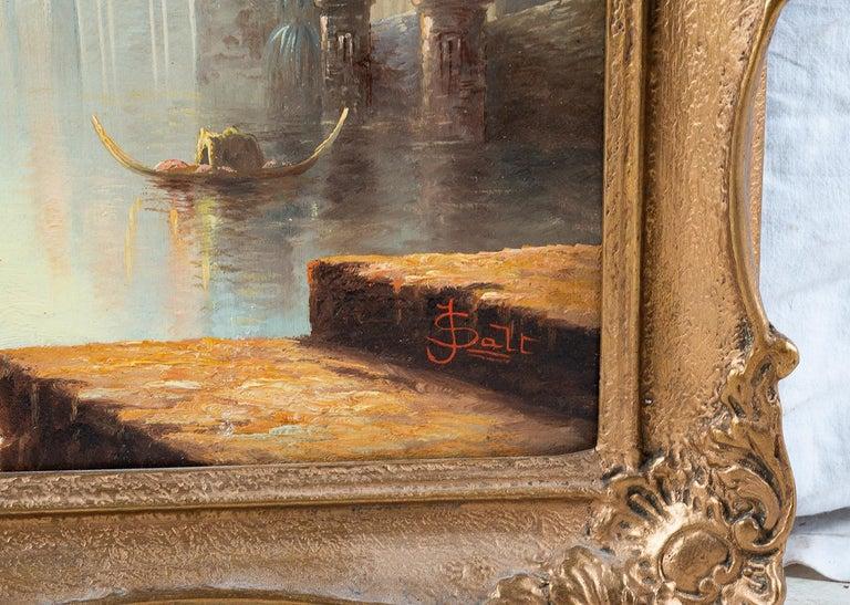 Italian Oil on Canvas by James Salt of 'Venetian Capriccio' 1883 For Sale